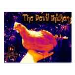 Pollo del diablo tarjetas postales
