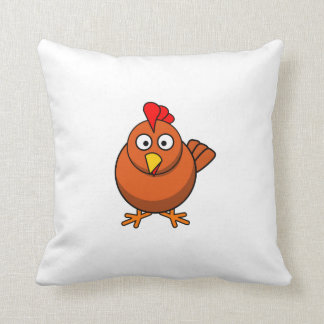 Pollo del dibujo animado cojines