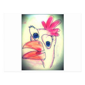 pollo del dibujo animado tarjetas postales