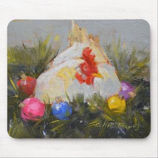 Pollo del navidad alfombrilla de ratones