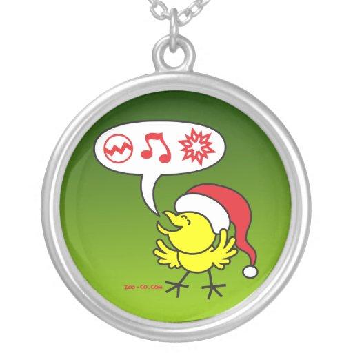 Pollo del navidad que hace un deseo colgantes