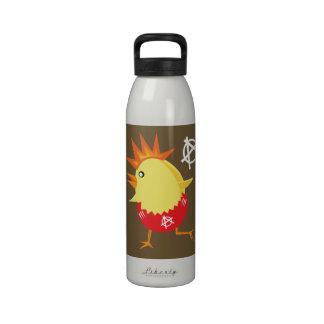 Pollo del punk rock botellas de agua reutilizables