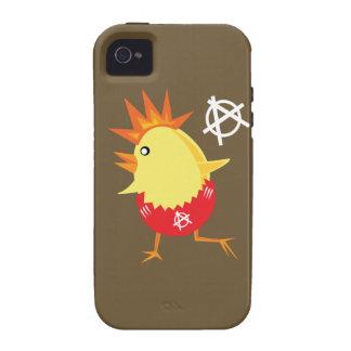 Pollo del punk rock iPhone 4/4S carcasas