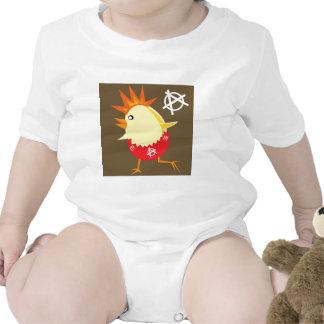 Pollo del punk rock trajes de bebé