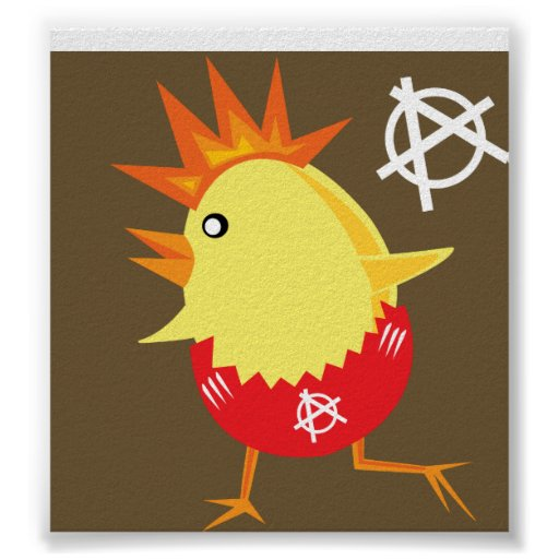 Pollo del punk rock póster