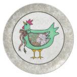 Pollo del remiendo del país plato de cena