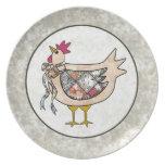 Pollo del remiendo del país plato de comida