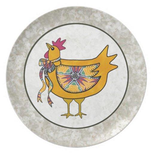 Pollo del remiendo del país platos