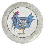 Pollo del remiendo del país platos de comidas