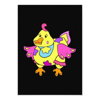 Pollo del remiendo invitaciones personalizada