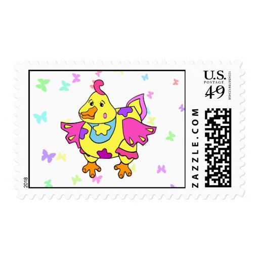 Pollo del remiendo sello