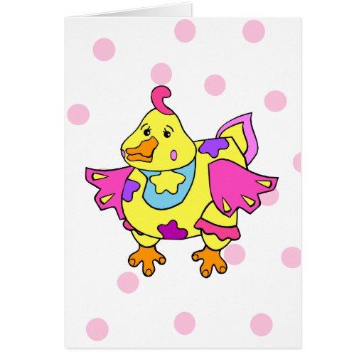 Pollo del remiendo tarjeta