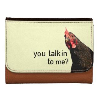 Pollo divertido de la actitud