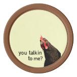 Pollo divertido de la actitud juego de fichas de póquer