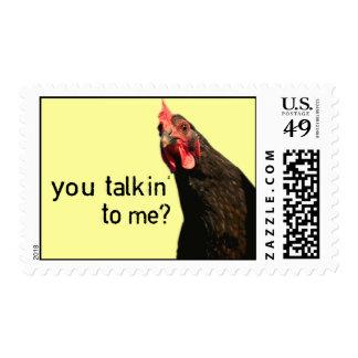 ¿Pollo divertido de la actitud - usted talkin a Sellos