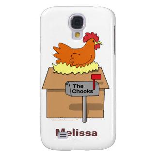 Pollo divertido de la casa de Chook en dibujo anim Funda Para Galaxy S4