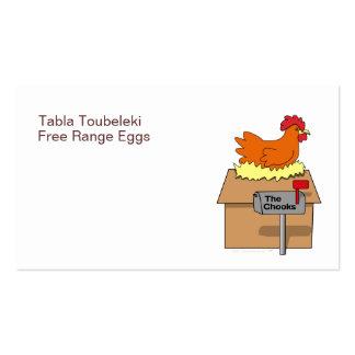 Pollo divertido de la casa de Chook en dibujo Tarjetas De Visita