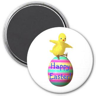 Pollo en el huevo de Pascua Imán Redondo 7 Cm