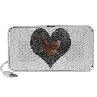 Pollo en forma de corazón iPod altavoz