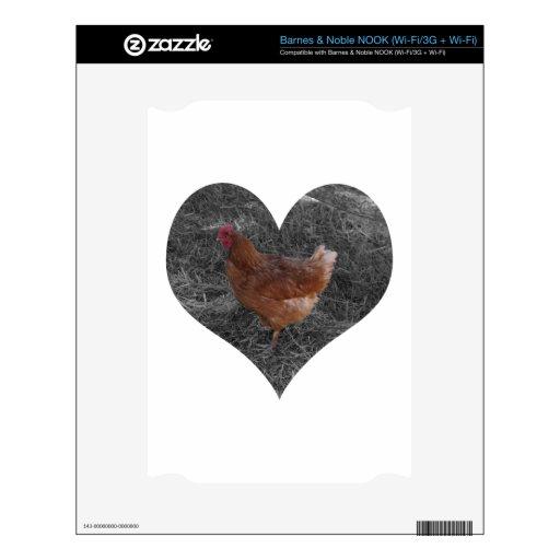 Pollo en forma de corazón NOOK calcomanías