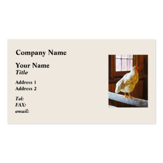 Pollo en granero tarjeta de visita