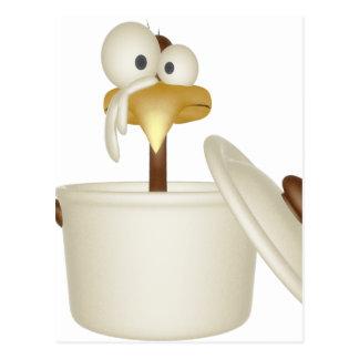Pollo en postal de la sopa