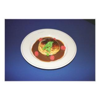Pollo en salsa de la frambuesa impresión fotográfica