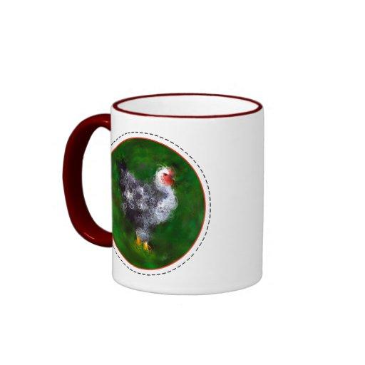 ¡Pollo enrrollado - añada sus palabras! Tazas De Café