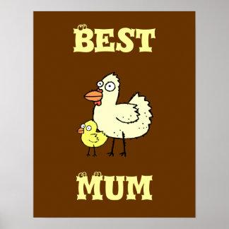 ¡Pollo enrrollado de la granja y momia del polluel Poster