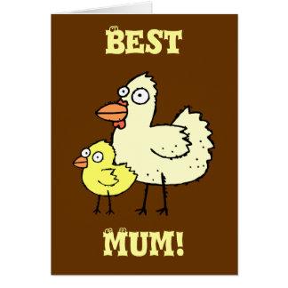 ¡Pollo enrrollado de la granja y momia del polluel Tarjeta De Felicitación