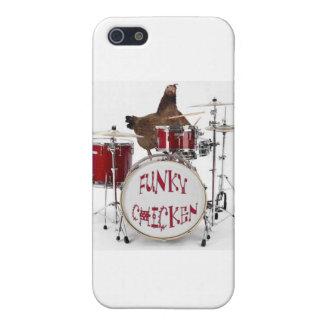 Pollo enrrollado divertido iPhone 5 carcasas