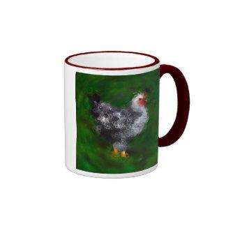 Pollo enrrollado taza a dos colores