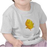 Pollo feliz del baile camiseta