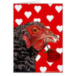 Pollo feliz del el día de San Valentín Tarjetas