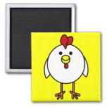 Pollo feliz lindo imanes para frigoríficos