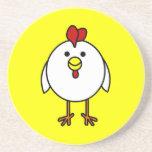 Pollo feliz lindo posavasos para bebidas
