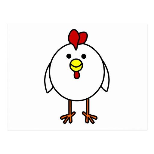 Pollo feliz lindo postal