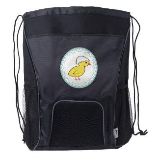 Pollo femenino de moda lindo divertido del bebé mochila de cordón