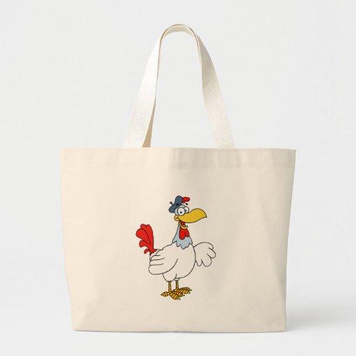Pollo francés de la gallina bolsa tela grande