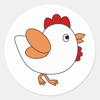 Pollo fresco pegatina redonda