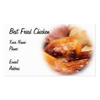 Pollo frito curruscante plantillas de tarjetas de visita
