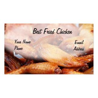 Pollo frito curruscante plantilla de tarjeta de visita