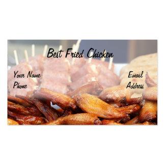 Pollo frito curruscante tarjeta personal
