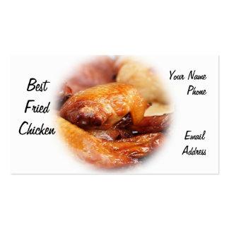 Pollo frito curruscante tarjeta de visita