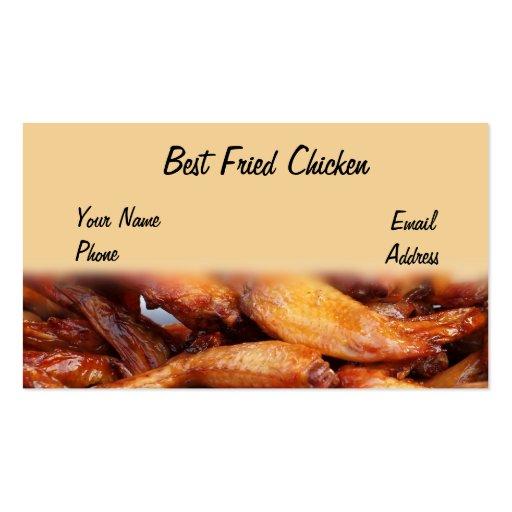 Pollo frito curruscante tarjetas de visita