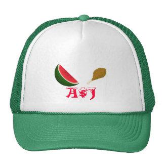 Pollo frito del efectivo AJ y gorra de la sandía