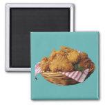 Pollo frito imán cuadrado