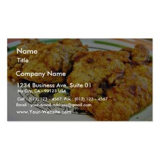 Pollo frito plantillas de tarjetas de visita