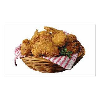 Pollo frito tarjetas de visita