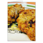 Pollo frito tarjeton